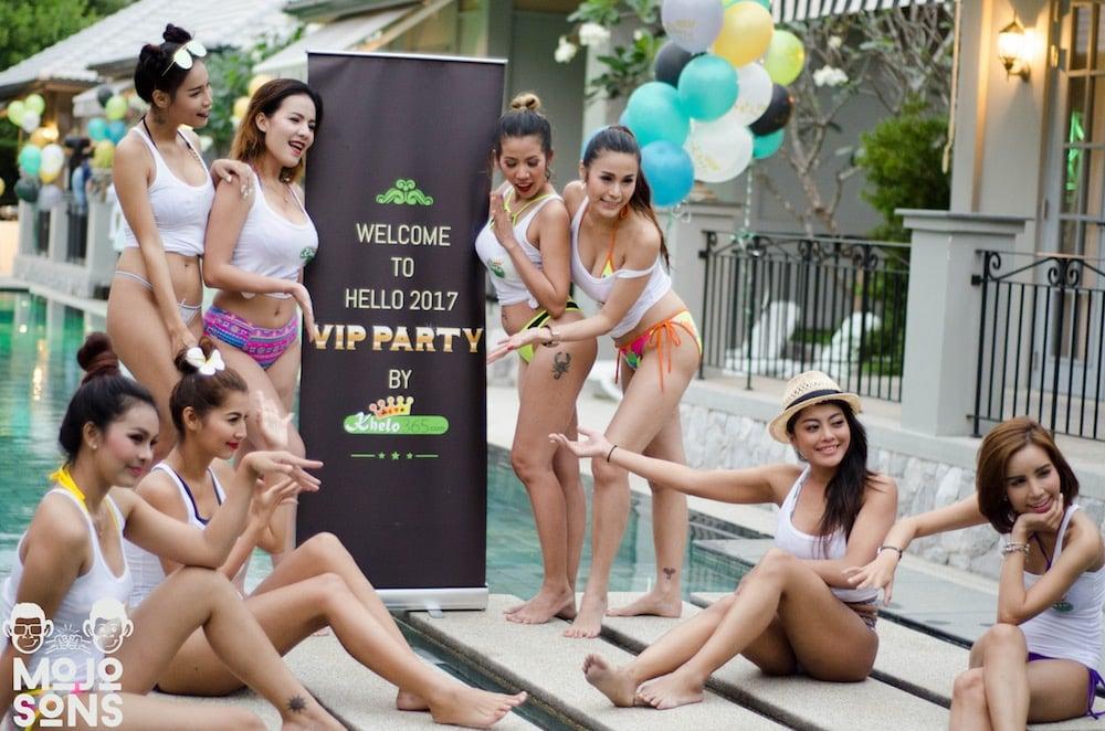 models pool sala retreat pattaya