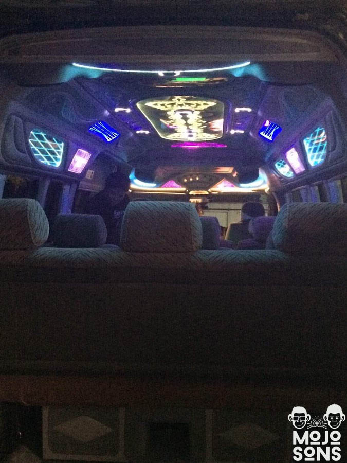 party bus light airport transfer